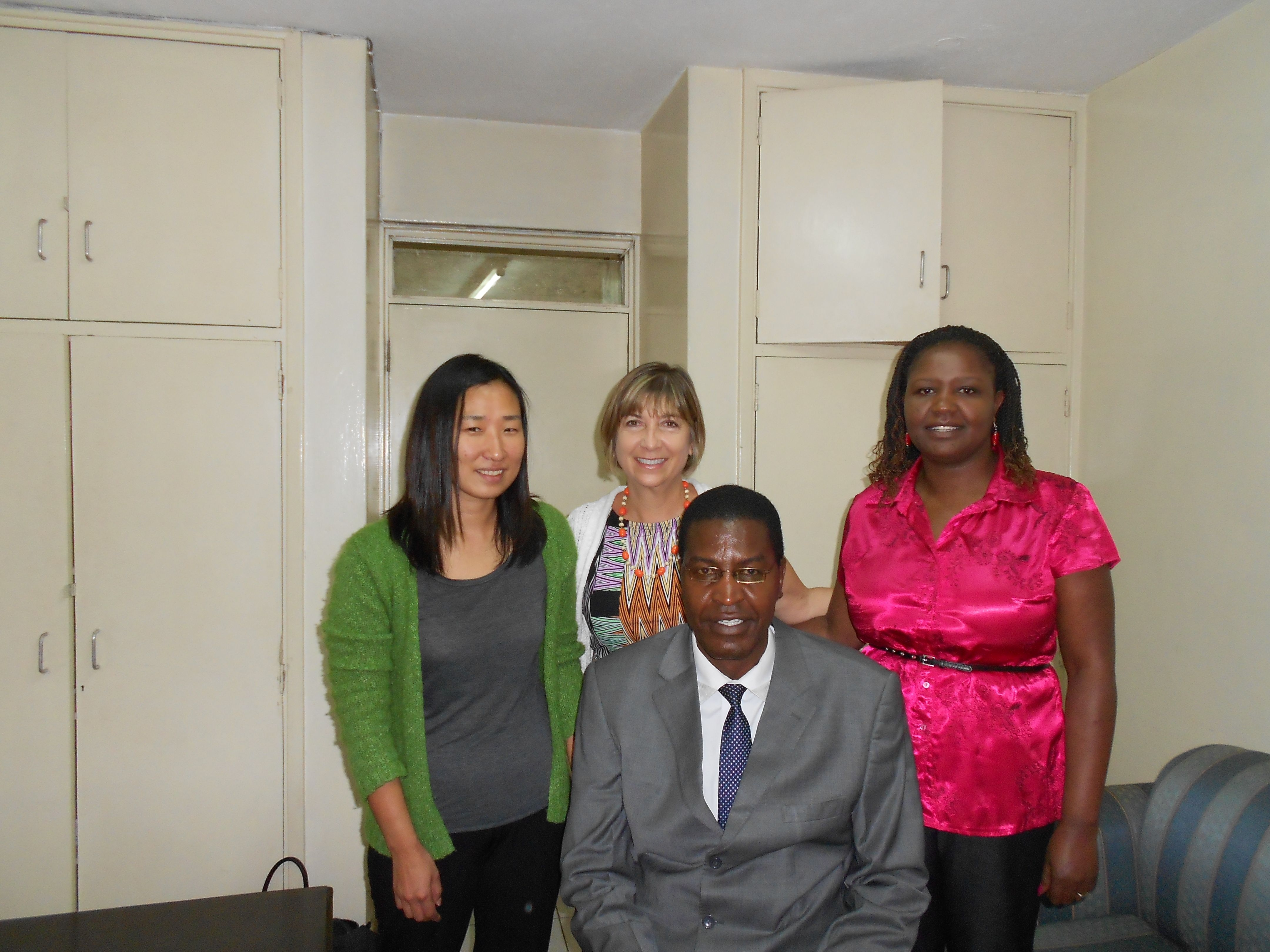 L to R: Yeon Yoo Dr. Nancy Cabelus & Irene Mageto. Seated Dr. Ngure